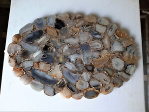 Wild Agate Table, Agate Table, Oval Agate Table, Brown Agate Table, Agate Side