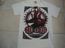 AC/DC ACDC Shoot To Thrill Classic Rock Concert Tour White T Shirt S