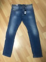 NWD Mens Diesel TEPPHAR Stretch Denim R2H48 BLUE Slim W28-30 L30 H6 RRP£150