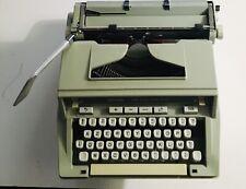 Hermes 3000 Portable Typewriter Vintage W/square Top Plastic Shell Hard Case