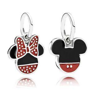New Disney Mickey/Minnie mouse dangle drop Pendant Charm Fits Charm bracelets