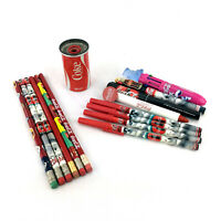Lot 15 Coca-cola Pencils And Pens Can Sharpener Vintage 90S Coke Collectibles