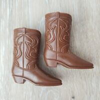 Vintage Ken Cowboy Boots Brown JAPAN Alan Brad Western Shoes MINT