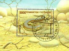 0020+ TIMBRE TADJIKISTAN  BLOC  REPTILES    1995