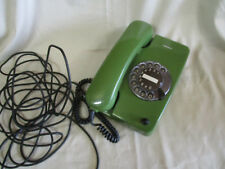 Antiguo siemens teléfono con dial 80er años verde ca 40 años Antik