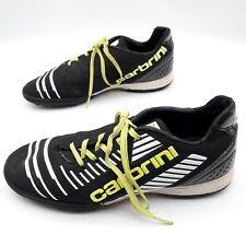 Carbrini Junior Football Boots, Astro Turf, Black / Yellow / White, Size UK 5