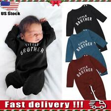 Newborn Baby Boys Long Sleeve Romper Jumpsuit Badysuit Clothes Outfits Brother