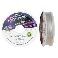 Soft Flex Extreme Sterling Silver Bead Wire .019in 10 ft Mini Spool Metallic