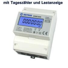 LCD Drehstromzähler Stromzähler MID 2018 geeicht, mit S0 für Hutschiene 10(100)A