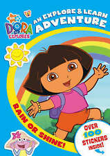 Rain or Shine!: An Explore and Learn Adventure (Dora the Explorer)-ExLibrary