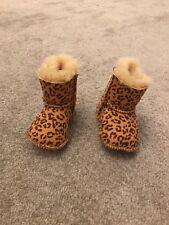 Bebé Pequeño Estampado De Leopardo-Ugg Boots, una vez usado, Excelente Estado