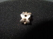 Genuine *PANDORA* Sterling Silver & 14ct Gold Eyelet Lace Charm 790326