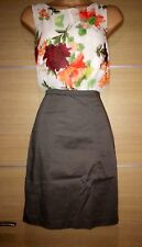 Crew Neck Wiggle, Pencil Business Floral Dresses for Women