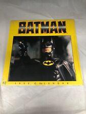 Vintage 1990 Batman Movie Michael Keaton Wall Calendar By Landmark NEW SEALED