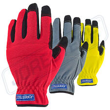 Firm Work Gloves Safety Size Large 3 Pairs Outdoor/Work/Garden Pad New