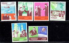 PARAGUAY #1041-1046  1965  JFK  SHORT SET   MINT VF NH O.G