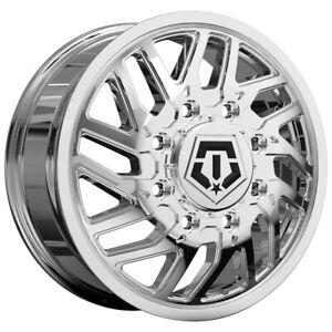 "TIS 544C Dually 20x8.25 8x6.5"" +127mm Chrome Wheel Rim 20"" Inch"