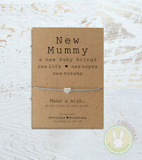**New Mummy Wish Bracelet* Card Baby Pregnancy Congratulations Mother Mum Shower
