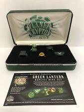 Planet Krypton Green Lantern Replica Ring Set Limited Edition #1272/2000