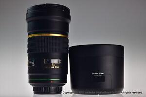 smc Pentax DA 200mm f/2.8 ED IF SDM Read Manual Focus Only