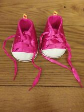 Build A Bear High top Sneakers Pink Sparkle Glitter Shoes