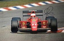 Nigel MANSELL firmato a mano Ferrari 18x12 foto F1 1.