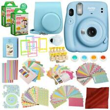 FUJIFILM INSTAX Mini 11 Instant Film Camera (Sky Blue) with 168 Piece Bundle