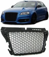 DEBADGED SPORTS BLACK HONEY COMB WEB RS3 LOOK GRILL FOR AUDI A3 8P 2008-2012