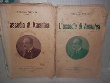 L ASSEDIO DI AMANTEA Due volumi Nicola Misasi F Bideri 1941 romanzo libro di