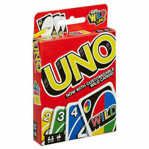 UNO WILD CARD GAME 112 PLAYING CARDS INDOOR FAMILY CHILDREN FRIENDS PARTY GIFT