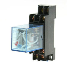 H● JQX-13F 8 Pin DPDT General Purpose Power Relay w Socket Coil AC 220V/240V.