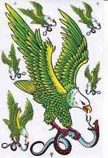 N-412 Adler Eagle Aufkleber Sticker 1 Bogen 27 x 18 cm Racing Tuning