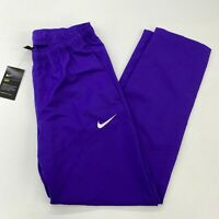 NWT Nike Dri-Fit Track Pants Mens M Purple Drawstring Tie Zip Hem Activewear