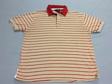 Vintage 70S 80S Bruce Jenner Sports In Motion Tennis Brown Polo Shirt Mens Large