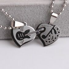 """316L Stainless Steel Pendant  1.4424X0.76 Inch Guitar Necklace 22"""" B123"""