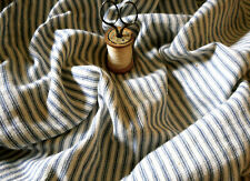Antique Primitive Farmhouse Cabin Indigo Blue Soft Ticking Fabric ~ rag dolls