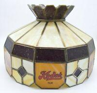 Kodak Film Slag Stained Glass Hanging Lamp Shade Store Advertising Fixture Light