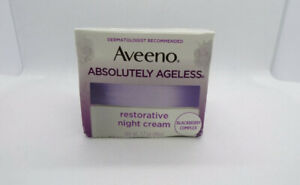 AVEENO Active Absolutely Ageless Restorative Night Cream, Blackberry 1.7 oz