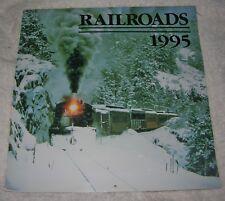 """1995 Railroad Calendar Color 12"""" x 12"""""""