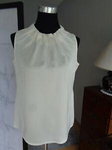 Comma Damen Bluse Gr. 36 creme-weiß