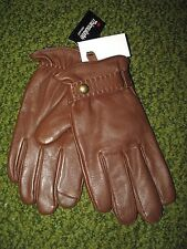 "$88 POLO-RALPH LAUREN ""Snuff"" Brown Nappa Leather Driving Gloves (XXL) TOUCH"