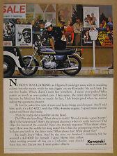 1975 Kawasaki KZ-400D Motorcycle record shop parking meter photo vintage Ad