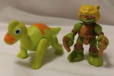 Tmnt Half Shell Heroes Mikey & Brachiosaurus figure Blast to the Past