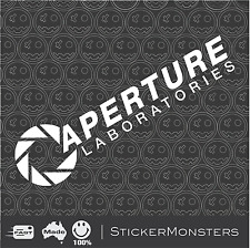 APERTURE LABORATORIES Portal Decal Sticker 300mmW Ute Cat Truck Boat Xbox PS4