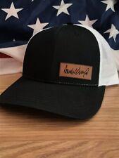 Trump Signature Hat Leather Patch Black/White Richardson 112 Donald Trump
