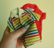 VINTAGE 1960'S KEN RED POLO ALLAN STRIPED DOLL SHIRTS