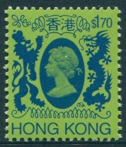 Hong Kong 1982 SG482 $1.70 blue and green Dragons QEII MNH