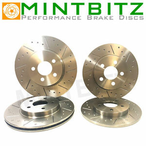 Dimpled And Grooved BRAKE DISCS FRONT REAR MG ZR 160 1.8 16v 282mm