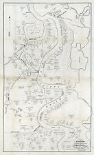 1860 Map of Plantations in Carrol Parish La and Issaquena County Mississippi
