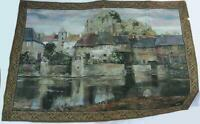 """Duvall Tapestry """"La Seyne Sur Mer"""" French Riviera Wall Hanging 54"""" X 38"""""""
